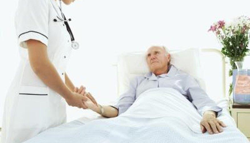 elderly man and nurse