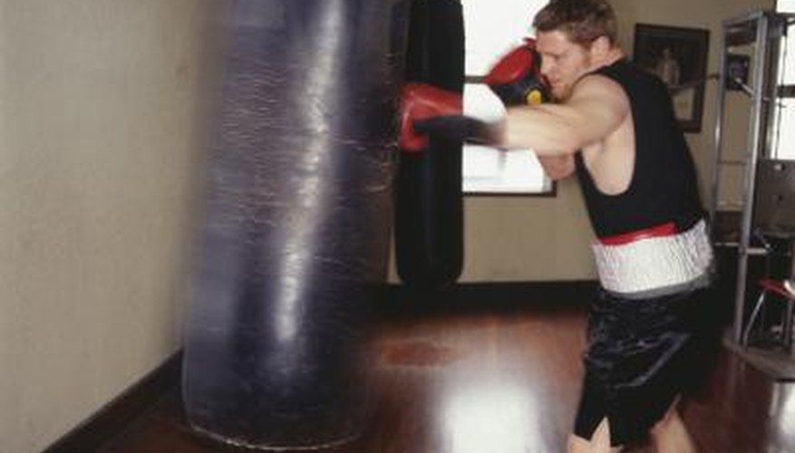 Punching the boxing bag is essential in timing and accuracy.