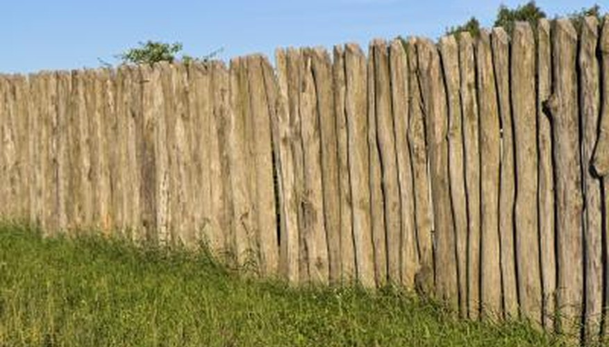 Solid wood fence