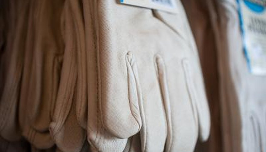 Cloth, rubber or leather gloves protect skin from irritation.