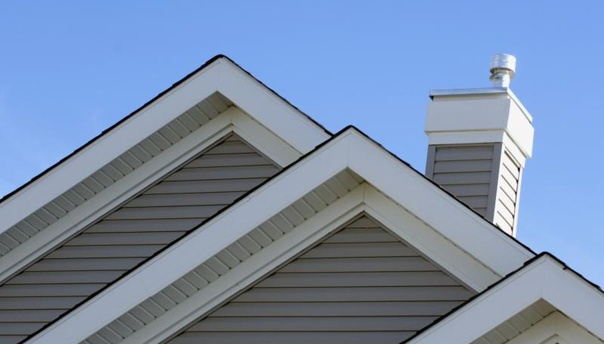 Architectural Details Of A Gable Roof