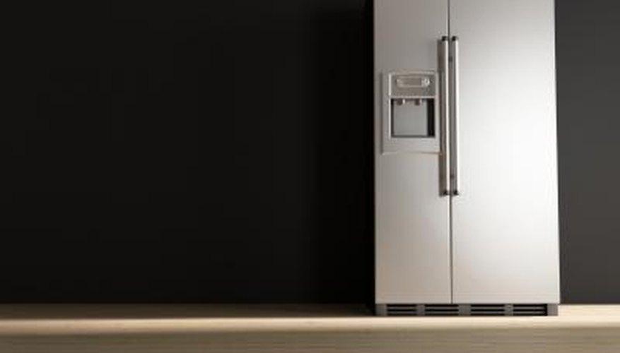 White refrigerator.