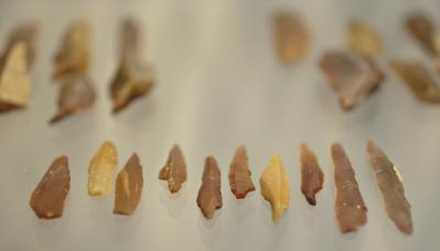 Flint stones created by prehistoric humans