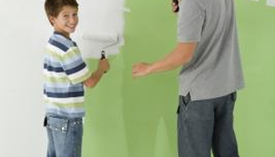 Dropcloths used for painting are useful for messy cleaning projects.