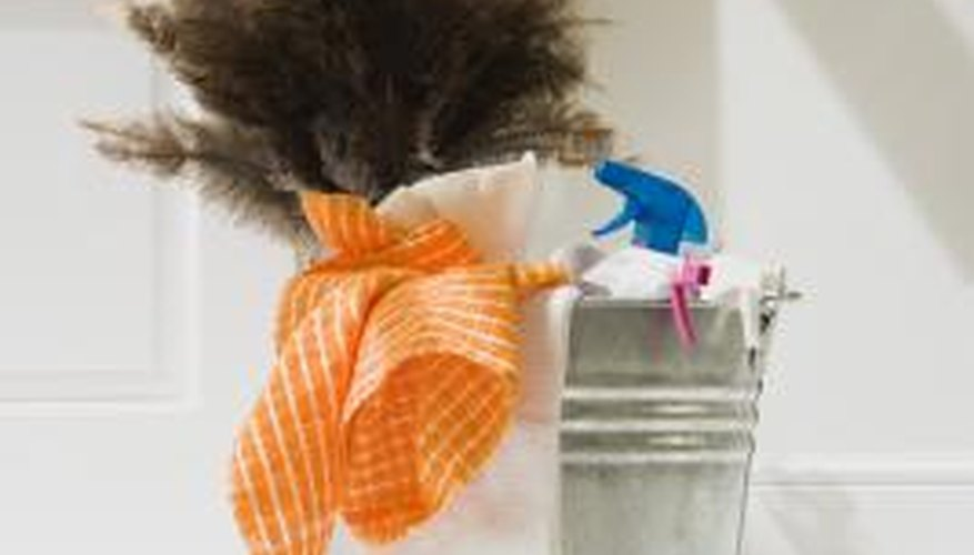 Getting all of your cleaning supplies in one place will help you get started.