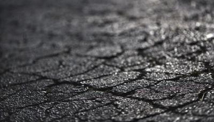 Close-up of cracked pavement