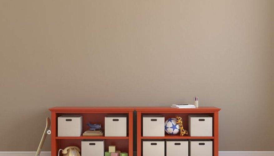 Light brown bedroom wall.