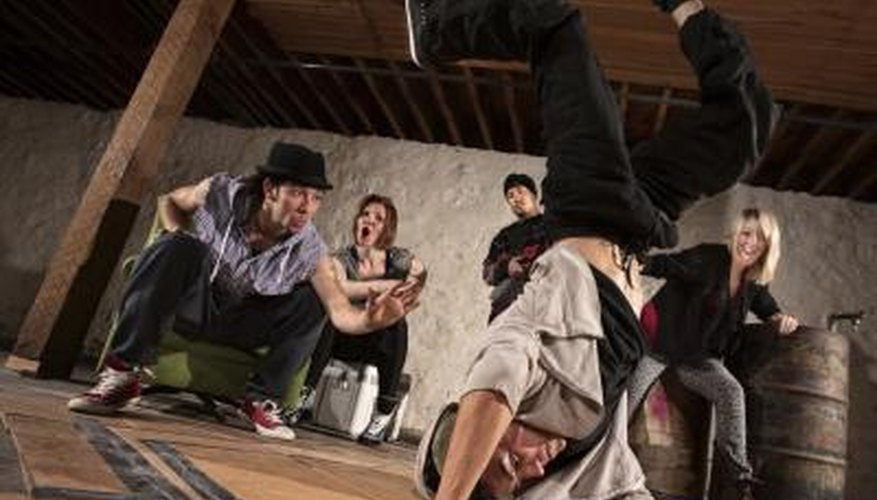 Break dancers were inspired by hip-hop.