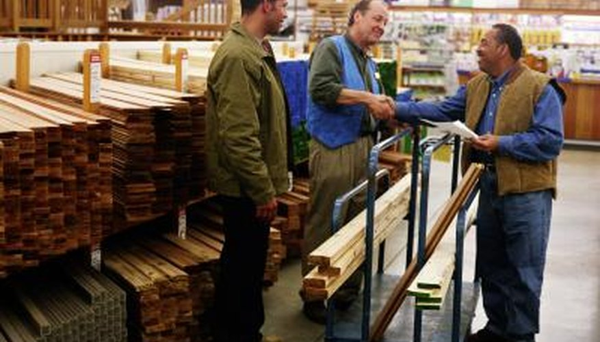 A home improvement store salesperson can help you with materials.