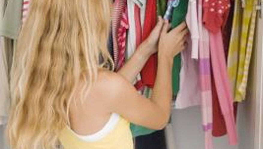 Use this approach to organize a bedroom closet for a child or teenager.