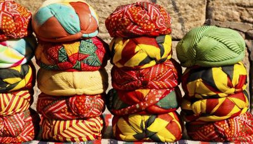 colorful turbans in Persia