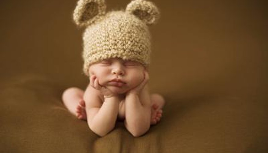 Baby sleeping with hat