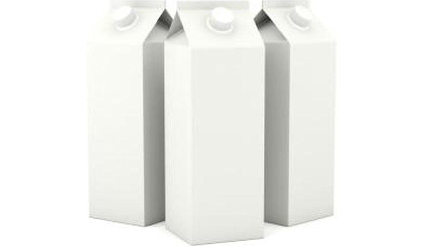 Milk cartons.