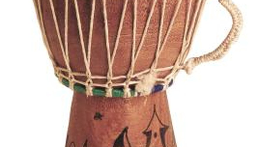 Traditional African drum