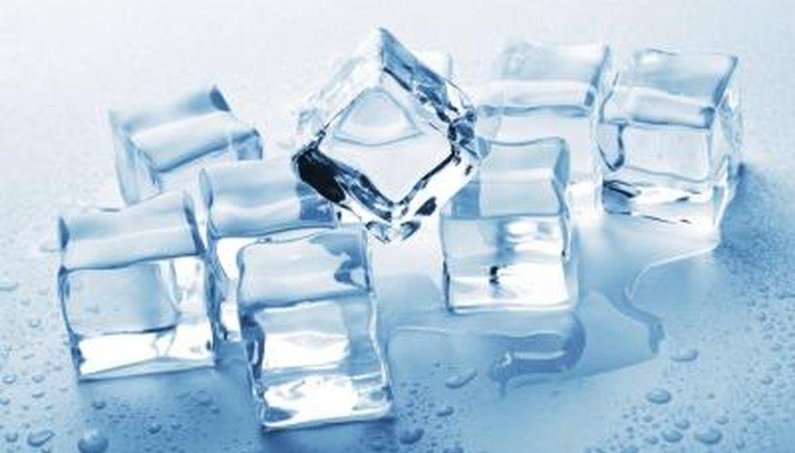Ice cubes.
