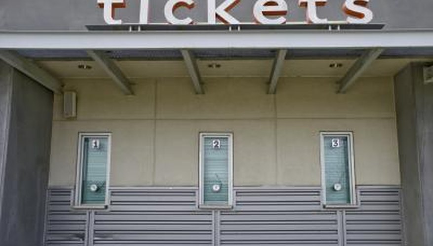 Ticket booth at a sports facility.