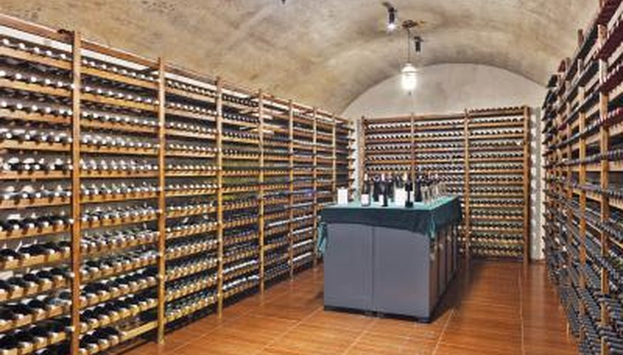 A large wine cellar.