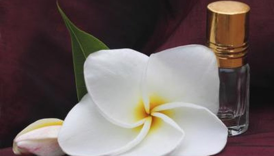Plumeria with essence bottle