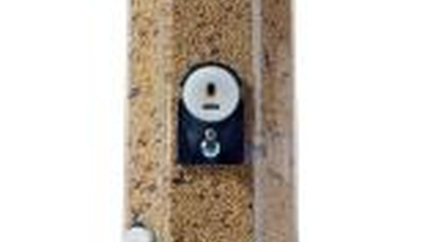 A constant food supply will help attract birds to your birdhouses.