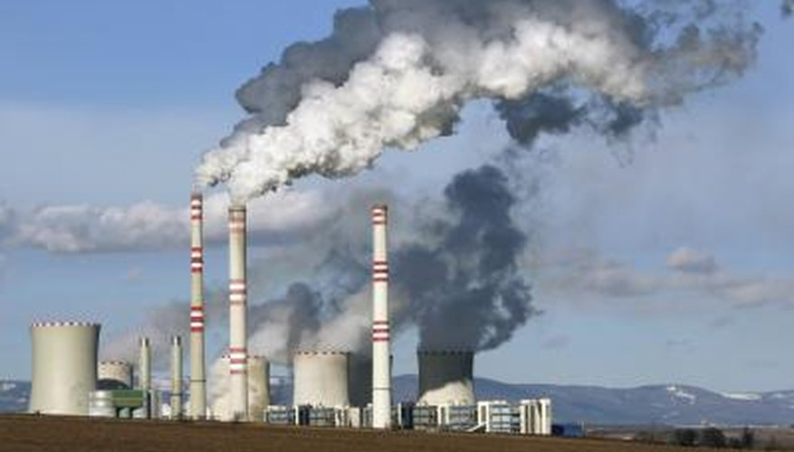Factories emit chemicals that could hurt the environment.
