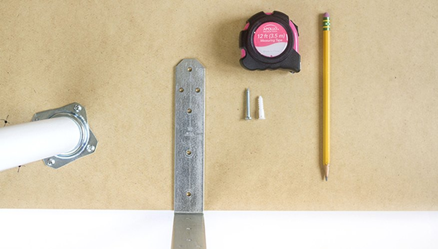 Measure and mark holes on the underside of the desktop for corner braces.