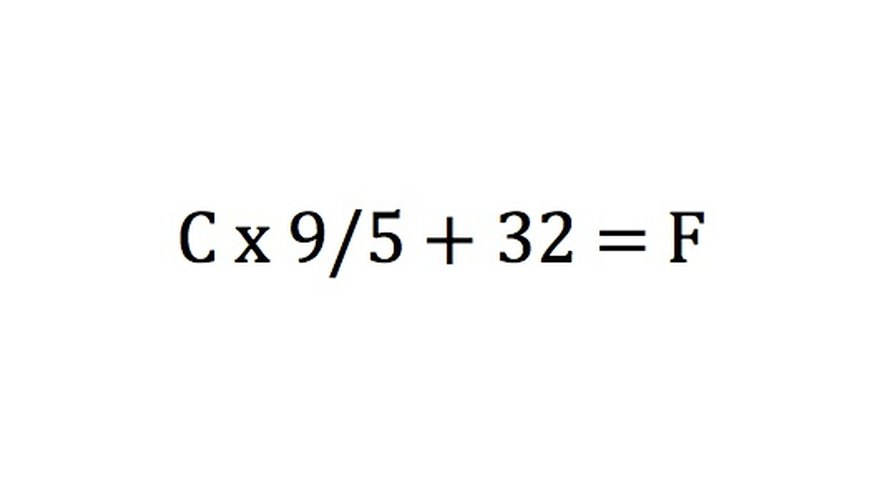 In this formula, C stands for the temperature in degrees Celsius and F represents the temperature in degrees Fahrenheit.