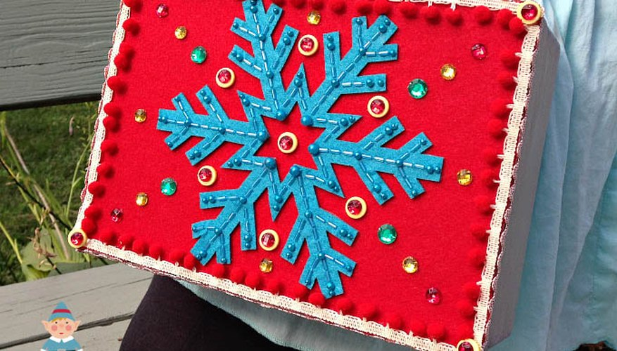 Ugly sweater accessories add fun to your holiday shoot.