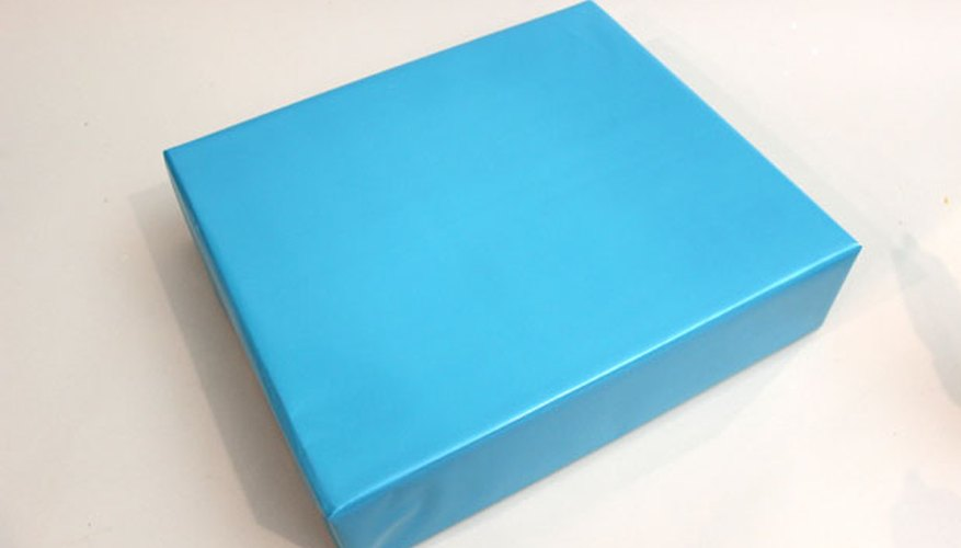 Wrap your gift in light blue paper.