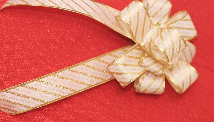 cómo hacer distintos tipos de lazos para el árbol de navidad
