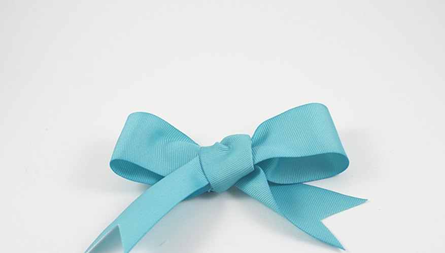 The bow is ready for your craft or gift.