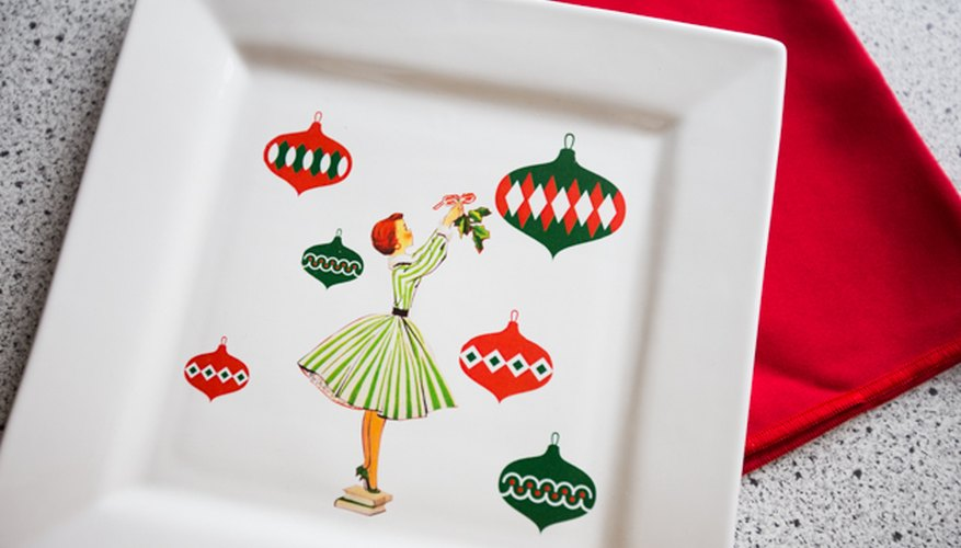 Use photos or clip art to make a custom holiday platter.