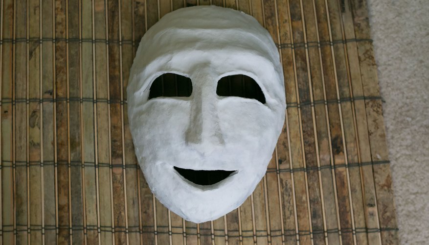 How to make a greek theater mask our pastimes for Ancient greek mask template