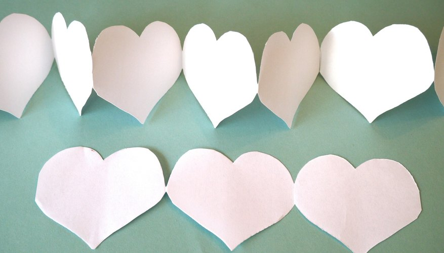 Easy paper heart chain
