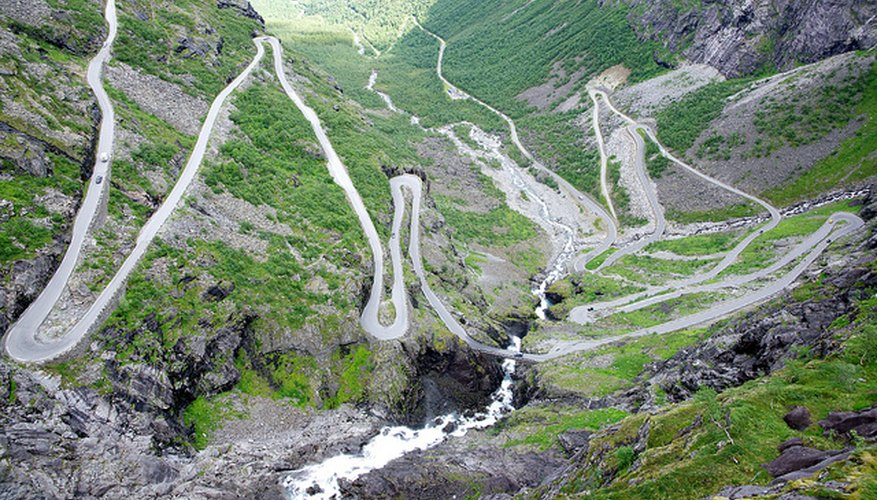 Imagen aérea de la carretera de Trollstigen