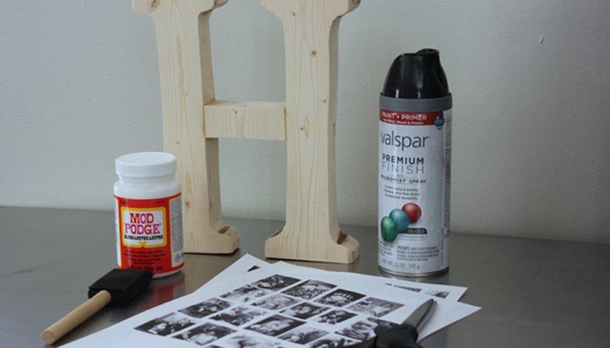 Materiales para una fotografía con monograma