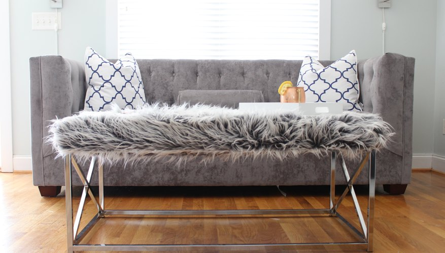 Faux Fur Upholstered Coffee Table