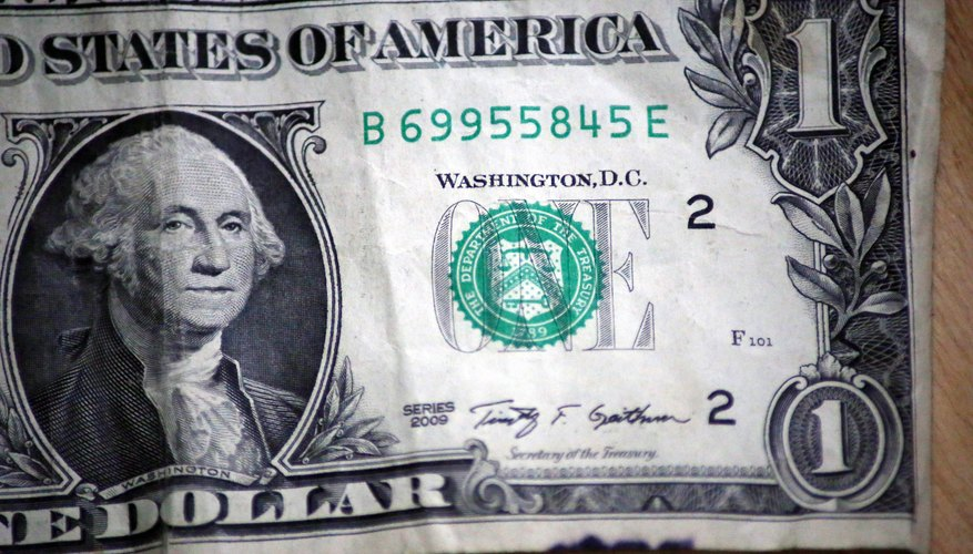 Look At The Serial Number And Treasury Seal That Is On Dollar Bill If Real Will Be Exact Color