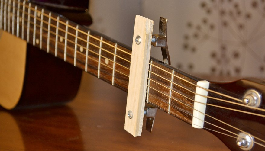 homemade capo guitar our pastimes. Black Bedroom Furniture Sets. Home Design Ideas