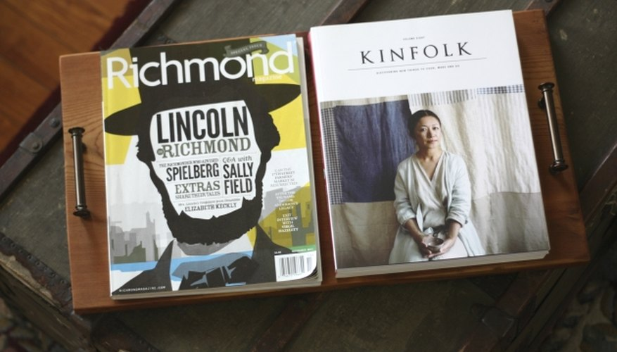 Stack magazines on the tray to help your organize coffee table.