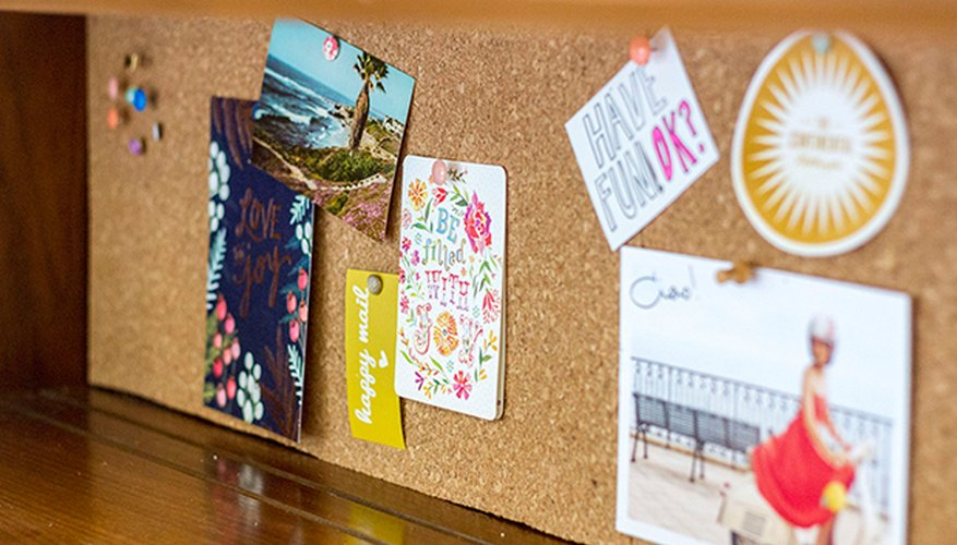 Display your office notes and cards on a simple, removable cork board.