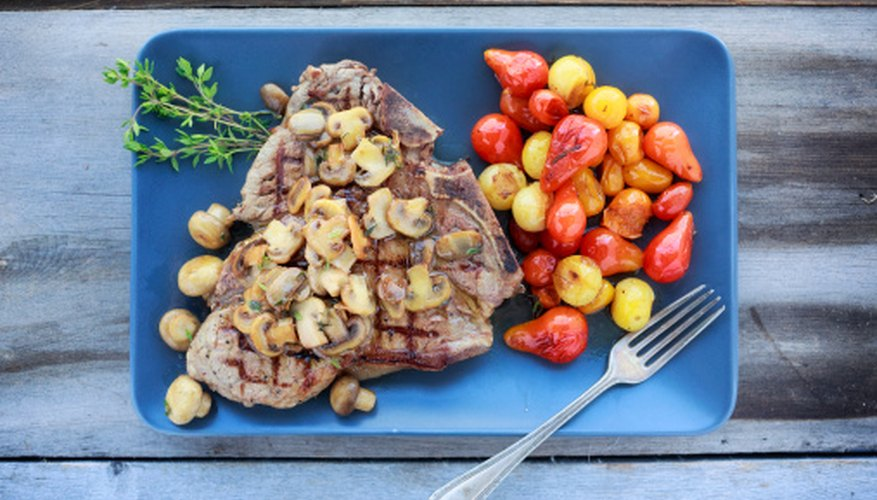 Steak and vegetables are central to the Paleo diet.