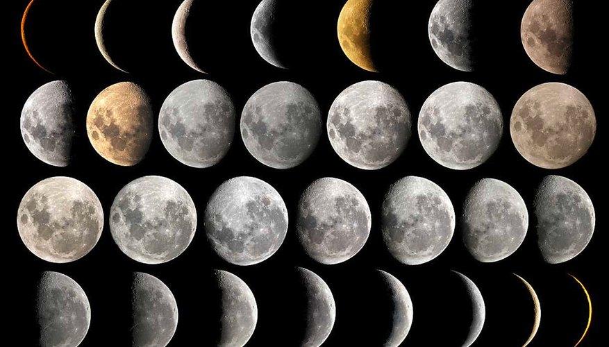 La luna atraviesa varias fases a lo largo del mes.