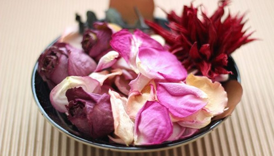 Dried flowers makes beautiful potpourri.