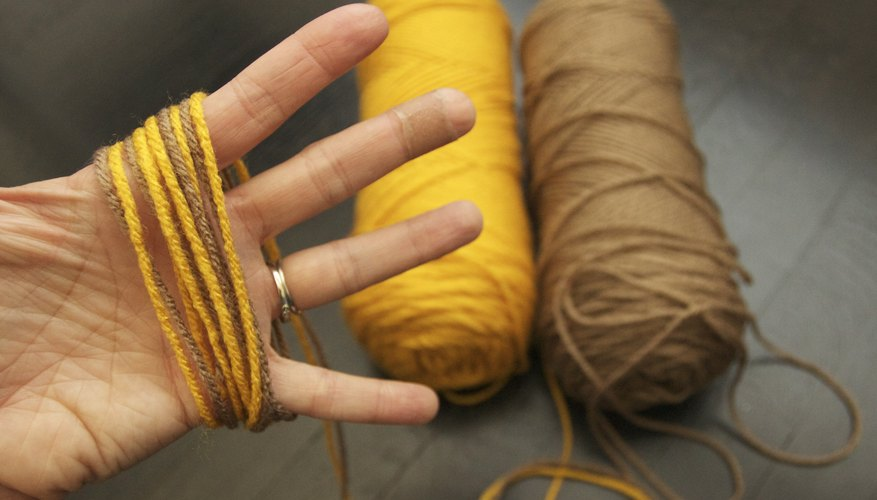 Wrap the yarn around your hand.