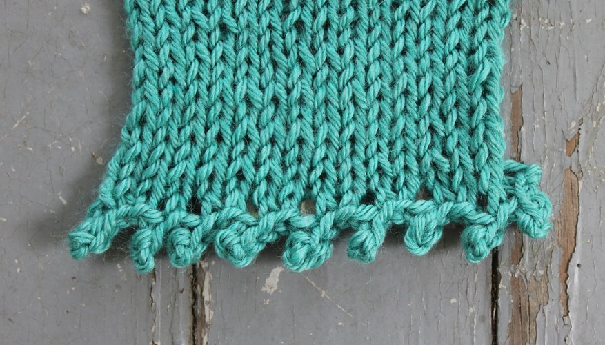 Picot stitch bind off