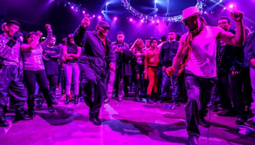 Dos personas durante una batalla de baile en Patrick Miller