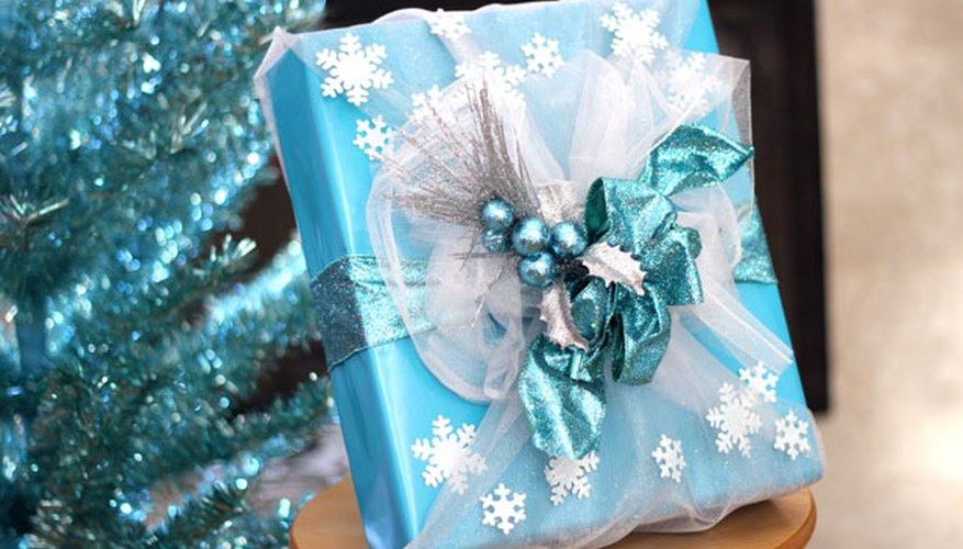 Frozen-inspired gift wrap.