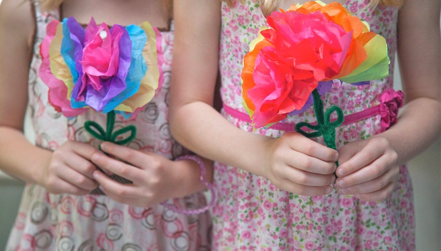 How To Make Paper Flowers With Kids Our Pastimes
