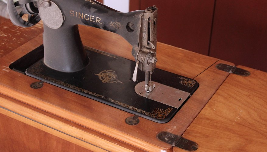 How To Identify An Antique Treadle Sewing Machine Our Pastimes Custom Singer Sewing Machine 1950 In Cabinet