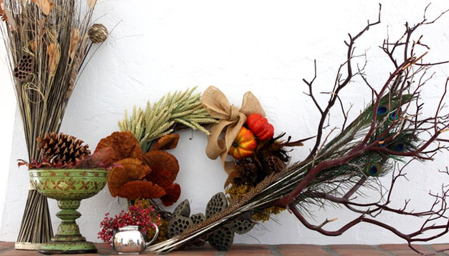 Autumn foliage is a perfect choice for fall decor.